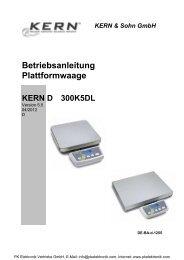 Bedienungsanleitung Kern & Sohn Plattformwaage ... - PK Elektronik