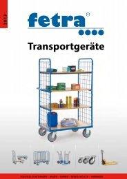 Katalog fetra Transportgeräte: Hubwagen, Karren ... - PK Elektronik