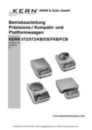 Kern & Sohn Tischwaage FKB36K0.1 - PK Elektronik
