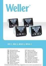 Bedienungsanleitung Weller Heißluftstation WXA 2 - PK Elektronik