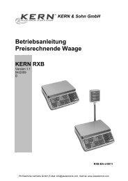 Bedienungsanleitung Kern & Sohn Preisrechnende ... - PK Elektronik