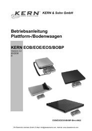 KERN EOB/EOE/EOS/BOBP - PK Elektronik