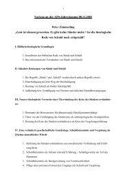Vortrag an der APS-Jahrestagung 08.11.2003 Peter ... - Peter Godzik