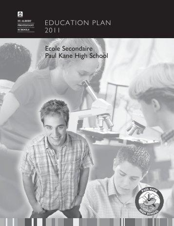 PK Education Plan 2011 - Paul Kane High School