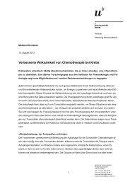 Verbesserte Wirksamkeit von Chemotherapie bei ... - Universität Bern