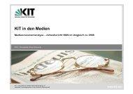 MRA-Jahresbericht 2009 als pdf-Datei - PKM - KIT