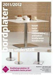 PKS bordplater og understell 2011 - PKS interiør & industri AS