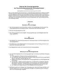 Satzung des Versorgungswerkes der Psychotherapeutenkammer ...