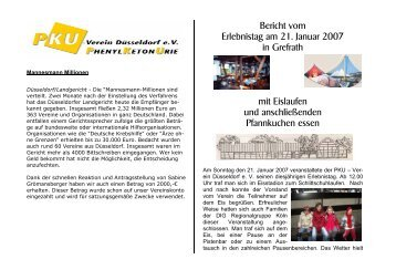 Ausgabe Nr. 18 - PKU-Verein Duesseldorf eV