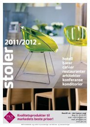 Stoler 2011/2012 - PKS interiør & industri AS