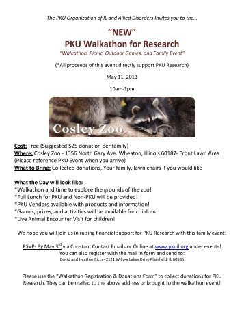 """NEW"" PKU Walkathon for Research - PKU Organization of Illinois"