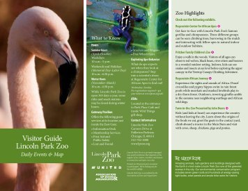 Visitor Guide Lincoln Park Zoo - PKU Organization of Illinois