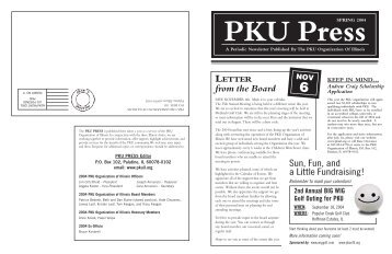 Spring 2004 - PKU Organization of Illinois