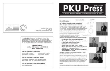 PKU Newsletter.Winter 2003 - PKU Organization of Illinois