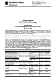 Bekanntmachung - Pkw-Label