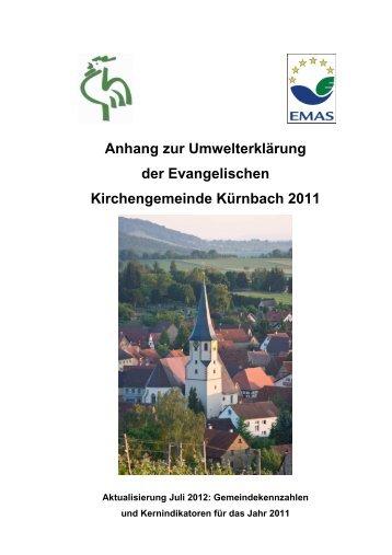 Anhang zur Umwelterklärung der Evangelischen Kirchengemeinde ...