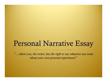 narrative essay powerpoints A bright, structured powerpoint that shows all the key attributes of the process of writing a narrative for children writing any type of fiction or creative story.