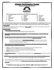 Athletic Participation Packet - Parkway