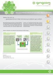 gingcom Exchange Archivierung - Cristie Data Products GmbH