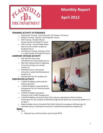 Monthly Report April 2012 - Plainfield Charter Township Fire ...
