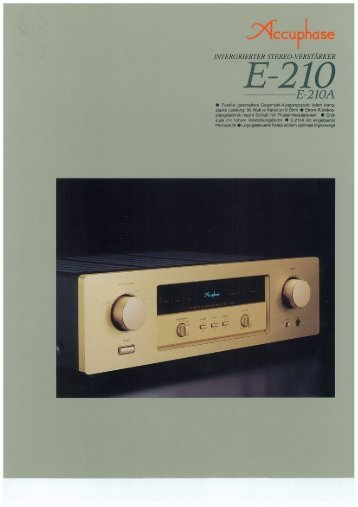 Accuphase e 210 Service Manual