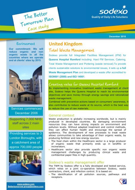 Case study - Queens Hospital Romford Sodexo