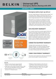 Universal UPS Emergency Battery Backup with AVR