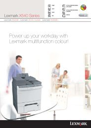 Power up your workday with Lexmark multifunction colour!