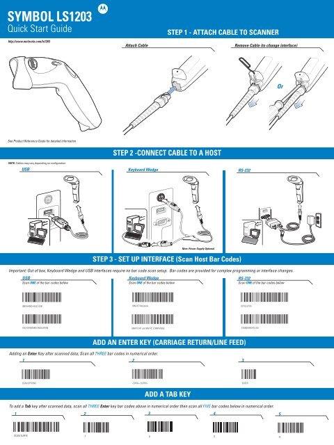 Motorola LS1203 - Quick Start Guide - The Barcode Warehouse