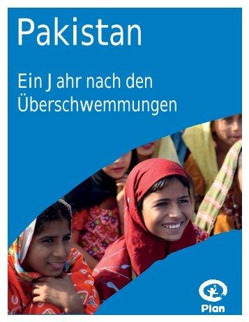 Pakistan - ein Jahr nach den Überschwemmungen - Plan Deutschland