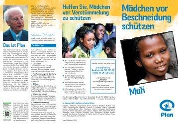 Mädchen vor Beschneidung schützen Helfen ... - Plan Deutschland