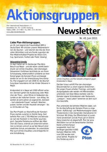 Newsletter Nr. 43, Juni 2011 - Plan Deutschland