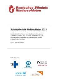 Schattenbericht 2013.indd - Deutsche Koordination Kindersoldaten