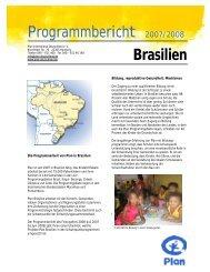 Programmbericht Brasilien - Plan Deutschland