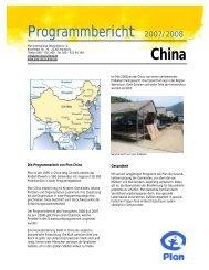 Programmbericht China - Plan Deutschland