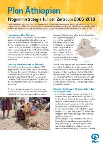 Plan Äthiopien - Plan Deutschland