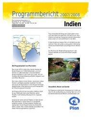 Programmbericht Indien - Plan Deutschland