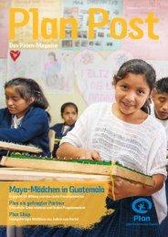 Maya-Mädchen in Guatemala - Plan Deutschland