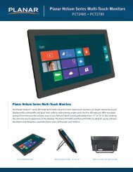 Planar Helium Series Multi-Touch Monitors