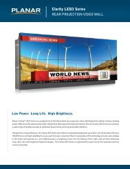 Clarity LED3 Series Brochure and Datasheet - Planar
