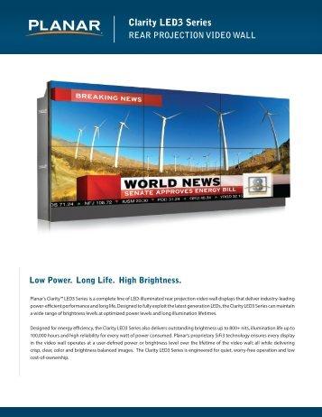 Clarity LED3 Series Brochure and Datasheet - Planar