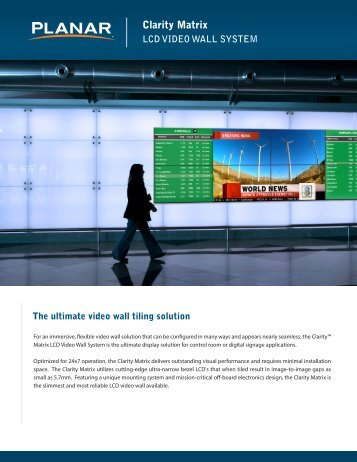Planar Clarity Matrix LCD VIDEO WALL SYSTEM - Applied ...