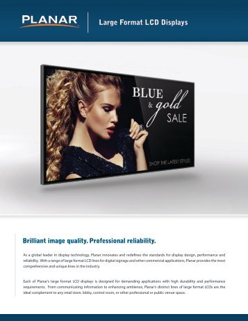 Large Format LCD Brochure - Planar
