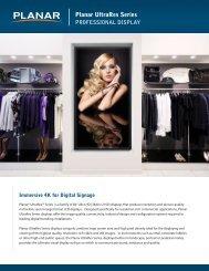 Planar UltraRes Digital Signage Brochure and Datasheet