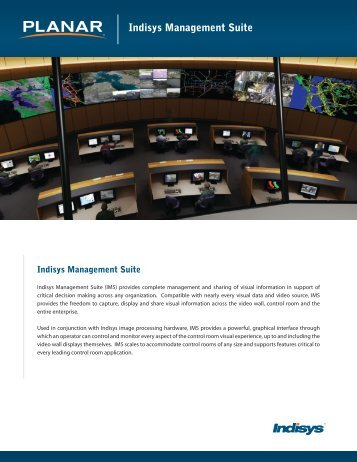 Indisys Management Suite Brochure and Datasheet - Planar