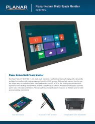 Planar Helium Multi-Touch Monitor - PresTop Products