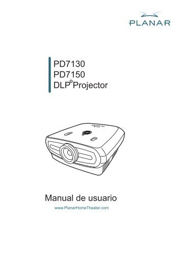Planar PD7130, PD7150 Product Manual - Spanish