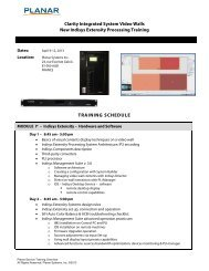 Clarity Integrated System Video Walls New Indisys Extensity ... - Planar