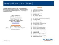 Clarity Margay II Quick Start Guide - Planar