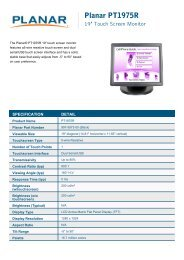 PT1975R - Single Touch Monitor - Planar
